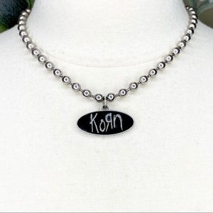 KORN Hard Rock Band 2000 Silver Tone Necklace